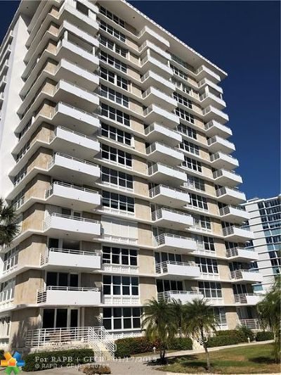 Fort Lauderdale Condo/Townhouse For Sale: 888 Intracoastal Dr #7F