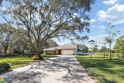 Davie Single Family Home For Sale: 4621 SW 108th Ave