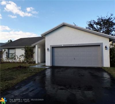 Coral Springs Single Family Home For Sale: 2650 NW 123rd Dr