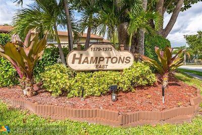 North Lauderdale Condo/Townhouse For Sale: 1155 Hampton Blvd