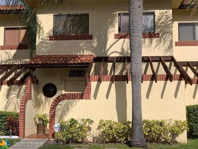 Sunrise Condo/Townhouse For Sale: 8813 NW 48th St #8813