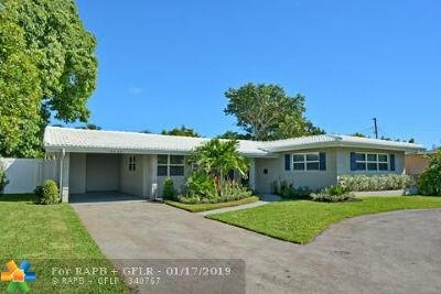 Oakland Park Single Family Home For Sale: 3486 NE 18th Ave