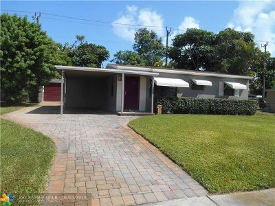 Pompano Beach Single Family Home For Sale: 2848 NE 13th Ave