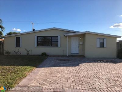 Fort Lauderdale FL Single Family Home For Sale: $319,000