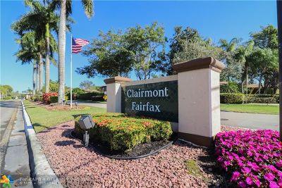 Tamarac Condo/Townhouse For Sale: 10763 W Clairmont Cir #208