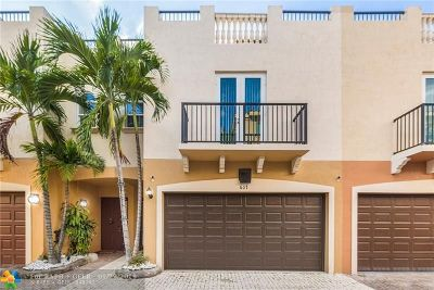 Fort Lauderdale Condo/Townhouse For Sale: 607 NE 11th Ave #607