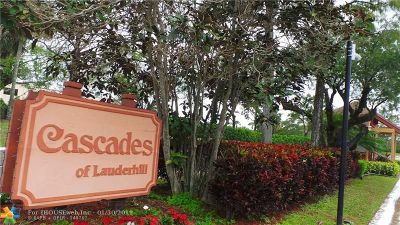 Lauderhill Condo/Townhouse For Sale: 7750 NW 50th St #302