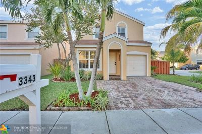 Margate Single Family Home For Sale: 3343 Indian Key Blvd