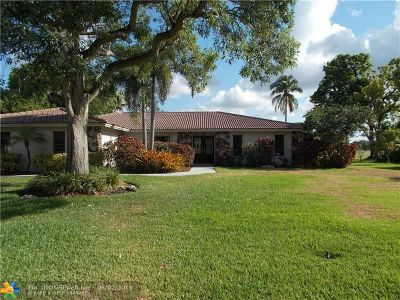 Coral Springs Single Family Home For Sale: 11051 NW 24th St