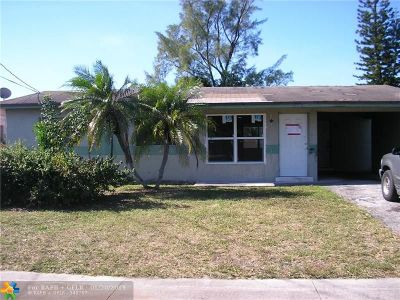 Pompano Beach Single Family Home For Sale: 881 NW 23rd Ter