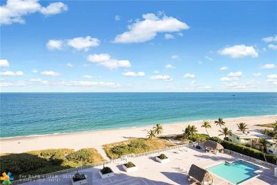 Pompano Beach Condo/Townhouse For Sale: 1390 S Ocean Blvd #9B