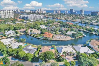 Fort Lauderdale, Lauderdale By The Sea, Lighthouse Point, Oakland Park, Pompano Beach Single Family Home For Sale: 50 Compass Ln