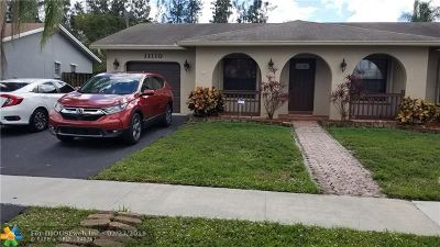 Sunrise Single Family Home For Sale: 11110 NW 20th Ct