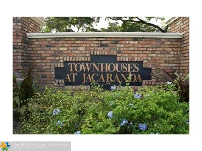 Plantation Condo/Townhouse Backup Contract-Call LA: 849 NW 81st Way