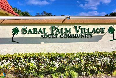 Tamarac Condo/Townhouse For Sale: 5180 E Sabal Palm Blvd #126
