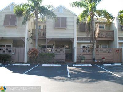 Margate Condo/Townhouse For Sale: 4804 S Hemingway Cir #4804