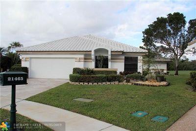 Boca Raton Single Family Home For Sale: 21465 Bridge View Dr