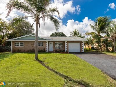 Fort Lauderdale FL Single Family Home For Sale: $355,000