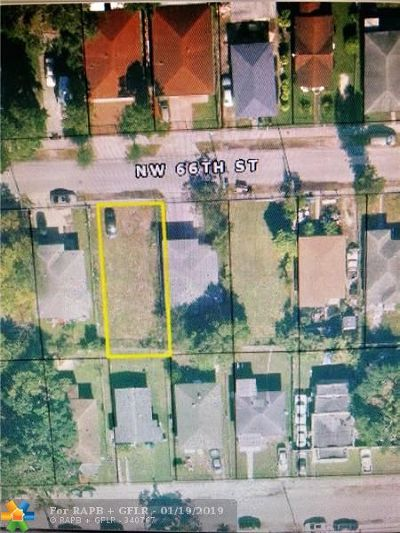 Miami Residential Lots & Land For Sale: 66 Street NW NW 18 Ave