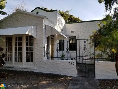 Fort Lauderdale Single Family Home For Sale: 520 SW 18th St