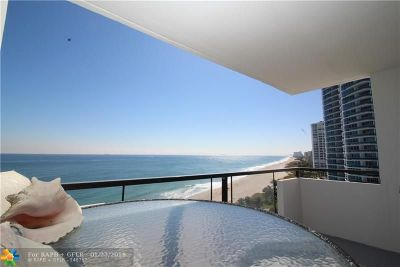 Pompano Beach Condo/Townhouse For Sale: 1500 S Ocean Blvd #1005