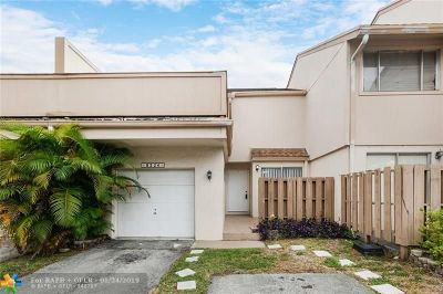 Plantation Condo/Townhouse For Sale: 8224 NW 9th Ct #3