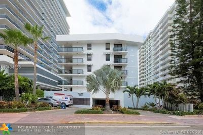 Miami Beach Condo/Townhouse For Sale: 5845 Collins Ave #303