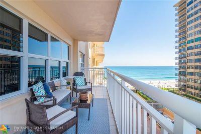 Fort Lauderdale Condo/Townhouse For Sale: 3850 Galt Ocean Dr #505