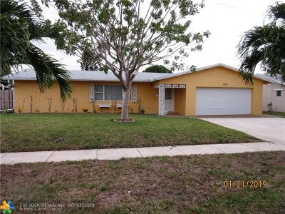 Coconut Creek Single Family Home For Sale: 3920 NW 11th St