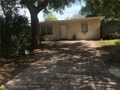 Fort Lauderdale Single Family Home For Sale: 1616 SW 30th Ter