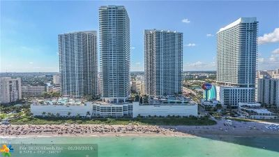 Hallandale Condo/Townhouse For Sale: 1800 S Ocean Dr #1604