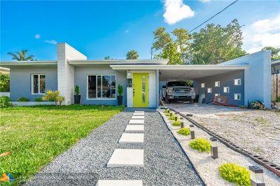 Oakland Park Single Family Home For Sale: 1560 NE 32nd Street