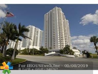 Pompano Beach Condo/Townhouse For Sale: 1370 S Ocean Blvd #1603