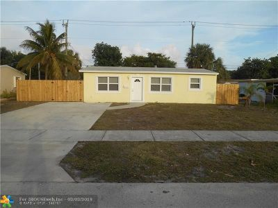 Pompano Beach Single Family Home For Sale: 2816 NE 13th Ave