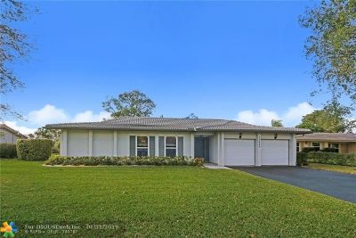 Coral Springs Single Family Home Backup Contract-Call LA: 10680 NW 42nd Dr
