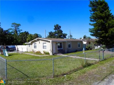West Palm Beach Single Family Home For Sale: 5869 Coconut Rd