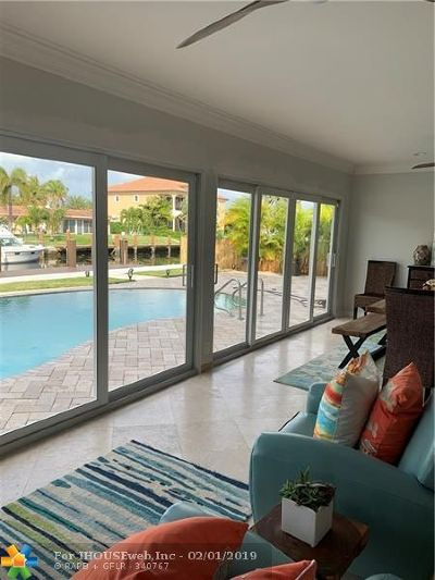 Pompano Beach Single Family Home For Sale: 2911 NE 23rd St