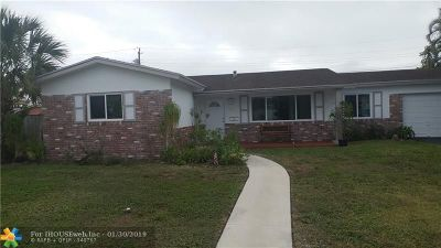 Coconut Creek Single Family Home For Sale: 4440 NW 9th Ct