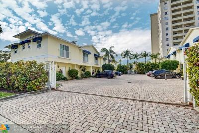 Fort Lauderdale Condo/Townhouse For Sale: 835 NE 19th Ave #4