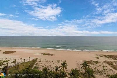 Pompano Beach Condo/Townhouse For Sale: 710 N Ocean Blvd #1004