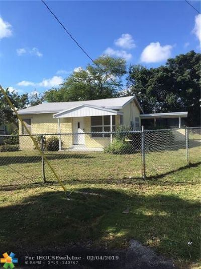 Fort Lauderdale FL Single Family Home For Sale: $195,000