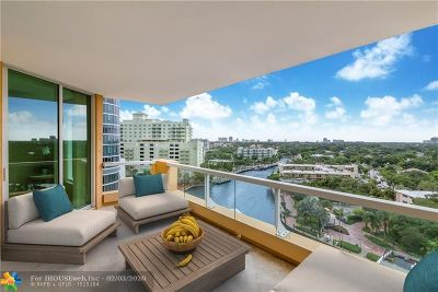 Fort Lauderdale Condo/Townhouse For Sale: 411 N New River Dr E #1404