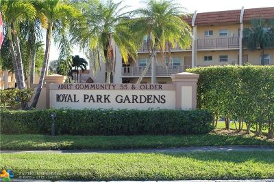 Margate Condo/Townhouse For Sale: 6650 Royal Palm Blvd #C-202