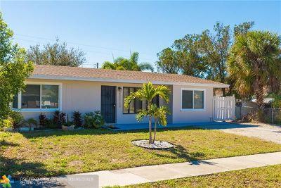 Pompano Beach Single Family Home For Sale: 1110 NE 42 Ct