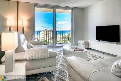 Pompano Beach Condo/Townhouse For Sale: 1009 N Ocean Blvd #508