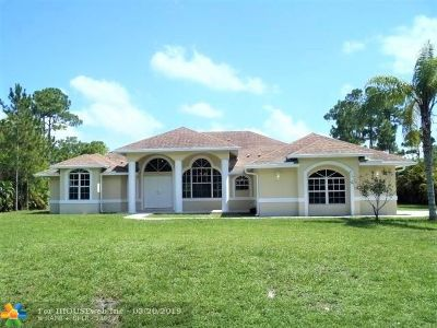 West Palm Beach Single Family Home For Sale: 11952 66th St