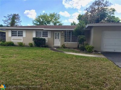 Plantation Single Family Home For Sale: 4840 NW 8th Ct