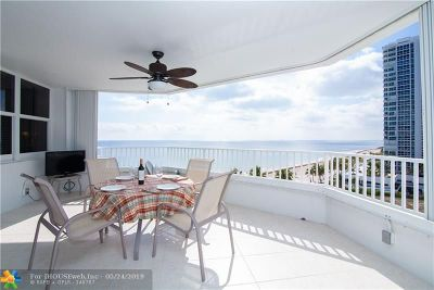 Pompano Beach Condo/Townhouse For Sale: 1340 S Ocean Blvd #804