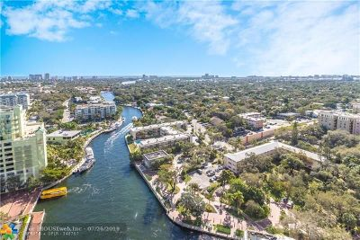 Fort Lauderdale Condo/Townhouse For Sale: 411 N New River Dr E #2402