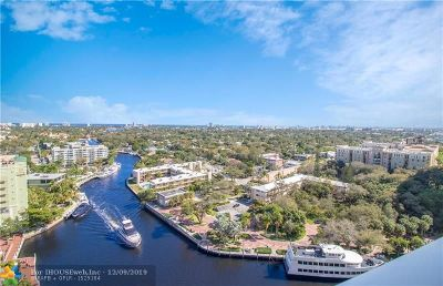 Fort Lauderdale Condo/Townhouse For Sale: 411 N New River Dr #1801